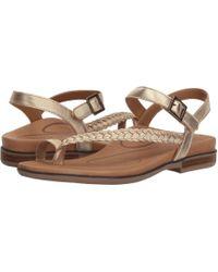 Aetrex - Evie (gold) Women's Sandals - Lyst