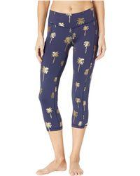 Lilly Pulitzer - Upf 50+ Weekender Crop Leggings (true Navy Sunset Safari Palms) Women's Casual Pants - Lyst