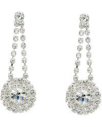 Nina - Halana Earrings (rhodium/white) Earring - Lyst