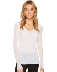Only Hearts - Tulle Long Sleeve V-neck (black) Women's Pajama - Lyst