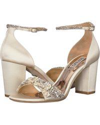 d52dfa241 Badgley Mischka - Finesse (soft Blush Satin) Women's Shoes - Lyst