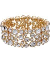 Guess - Stone Stretch Bracelet (gold/crystal) Bracelet - Lyst