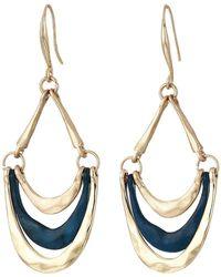 Robert Lee Morris - Patina Gold Multi Row Drop Earrings (patina) Earring - Lyst