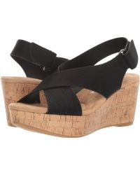 Dirty Laundry - Dl Dream Big Wedge Sandal (black) Women's Wedge Shoes - Lyst