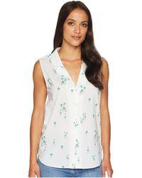 NYDJ - Sleeveless Button Detail Top (starlight Starbright Blaze) Women's Sleeveless - Lyst