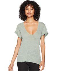 Free People - Saturday Tee (mushroom) Women's T Shirt - Lyst
