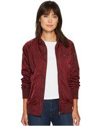 Members Only - Washed Satin Ex-boyfriend Jacket (burgundy) Women's Coat - Lyst