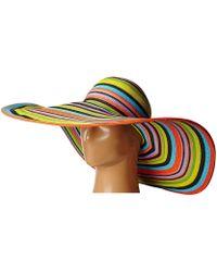 San Diego Hat Company - Ubx2721 Striped Floppy 8 Inch Brim Sun Hat (multi Brown) Caps - Lyst
