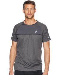Asics - Short Sleeve Top (dark Grey) Men's Short Sleeve Pullover - Lyst