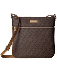 835e8a7c6a66 MICHAEL Michael Kors - Large Flat Crossbody (brown) Cross Body Handbags -  Lyst