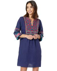 14c71b84919d6 Johnny Was - Annaliese Bishop-sleeve Embroidered Peasant Dress - Lyst