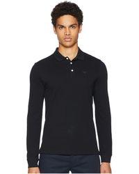 Emporio Armani - Long Sleeve Polo (blue) Men's Clothing - Lyst