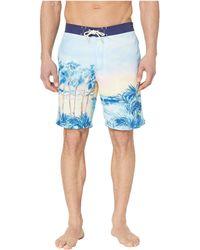 4a7ac4908e Tommy Bahama - Baja Forte De Marimi Seas Swim Trunk (glass Bead Blue) Men's