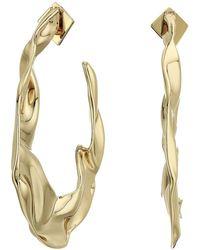 Alexis Bittar - Crumpled Hoop Earrings (10k Gold) Earring - Lyst
