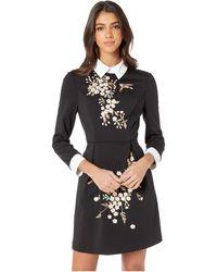 92defbb0e14cff Ted Baker - Ellan Graceful Collared Dress (black) Women s Dress - Lyst