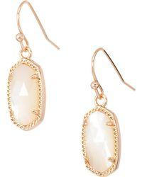 Kendra Scott - Lee Earring (gold/violet Drusy) Earring - Lyst