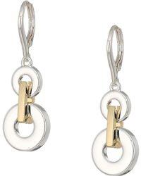 Lauren by Ralph Lauren - Two-tone Link Drop Earrings (two-tone 2) Earring - Lyst