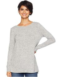 BB Dakota - Daily Rituals Brushed Knit Open Back Sweatshirt (heather Grey) Women's Sweatshirt - Lyst