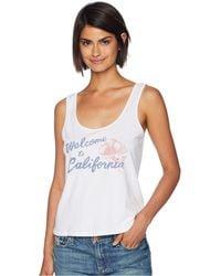 Amuse Society - Welcome To California Tank Top (white) Women's Sleeveless - Lyst