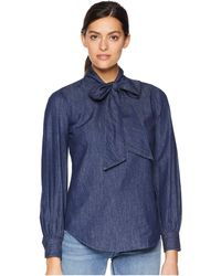 Lauren by Ralph Lauren - Necktie Denim Shirt (renegade Blue Wash) Women's Clothing - Lyst