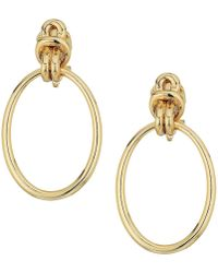 Lauren by Ralph Lauren   Classic Metal Knots Door-knocker Clip Earrings   Lyst