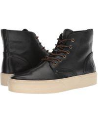 Frye - Beacon Lace-up (black Tumbled Veg Tan) Men's Lace-up Boots - Lyst