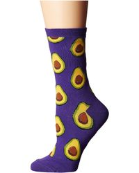 Socksmith - Avocado (grape) Women's Crew Cut Socks Shoes - Lyst