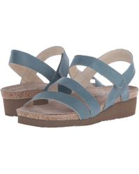 Naot - Kayla (black Luster Leather) Women's Sandals - Lyst
