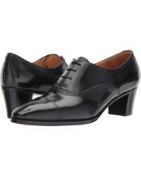 Gravati - Mid-heel Cap Toe Oxford (anticato) Women's Lace Up Cap Toe Shoes - Lyst