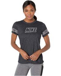 a8d191965d5 Nike - Dry Dri-fit Cotton Brand Slub Tee (white heather) Women s