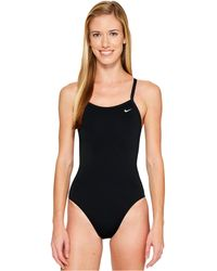 Nike - Solid Poly Lingerie Tank One Piece (black) Women's Swimsuits One Piece - Lyst