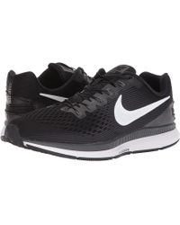 Nike - Air Zoom Pegasus 34 Flyease (black/white/dark Grey/anthracite) Men's Running Shoes - Lyst