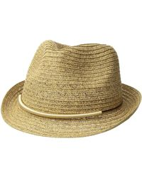 San Diego Hat Company - Ubf1106 Fedora W/ Metallic Bar Trim (natural) Fedora Hats - Lyst