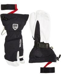Hestra - Army Leather Heli Ski 3-finger (black) Ski Gloves - Lyst