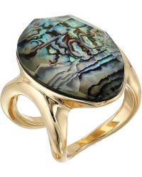 Robert Lee Morris - Abalone And Gold Stone Ring - Lyst