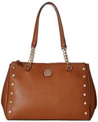 Anne Klein - Round Double Top Zip Satchel (caramel) Satchel Handbags - Lyst