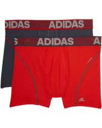 adidas - Sport Performance Climacool 2-pack Trunk (hi-res Red/onix/onix/hi-res Red) Men's Underwear - Lyst