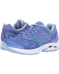Mizuno - Wave Rider 21 (estate Blue/high Risk Red (peachtree)) Women's Running Shoes - Lyst