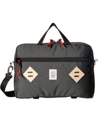 Topo Designs - Mountain Briefcase (black) Briefcase Bags - Lyst