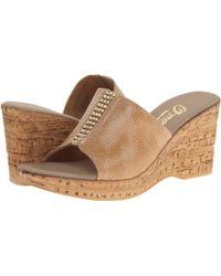 Onex - Billie (beige Eldorado Elastic) Women's Slide Shoes - Lyst