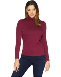 Vince Camuto - Long Sleeve Turtleneck Knit Jersey Top (manor Red) Women's Clothing - Lyst
