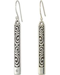 Brighton - London Groove Bar Reversible French Wire Earrings - Lyst