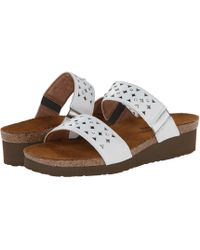 Naot - Susan (silver Threads Leather/glass Silver) Women's Slide Shoes - Lyst