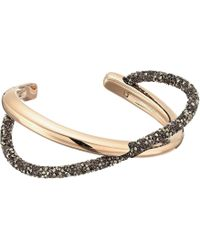 Swarovski - Crystaldust Cross Cuff Bracelet (gold) Bracelet - Lyst
