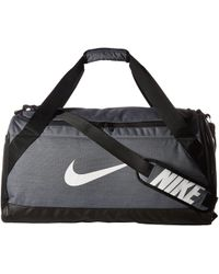 Nike - Brasilia Medium Duffel Bag (black/black/white) Duffel Bags - Lyst