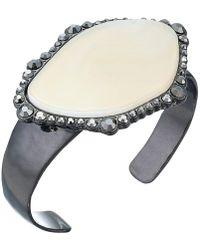 Lucky Brand - Pave Agate Cuff Bracelet (silver) Bracelet - Lyst