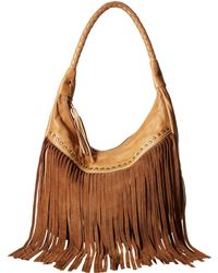 Scully - Oh So Soft Leather Fringe Bag (tan) Bags - Lyst