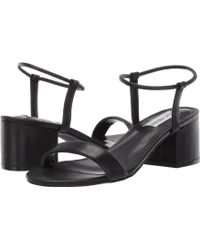 889f18be9ef Lyst - Steve Madden Ida Heeled Sandal (black) High Heels in Natural