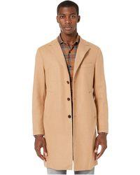 Eleventy Laser Cut Overcoat - Natural