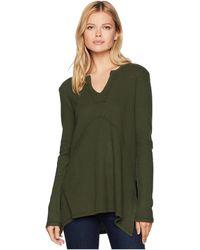 Mod-o-doc - Flatback Thermal Notch Pullover (shady) Women's Clothing - Lyst